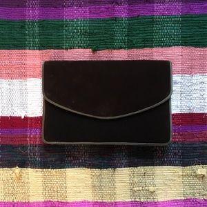 VINTAGE velvet clutch purse